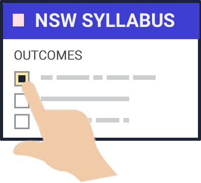 Select directly from the NSW syllabus